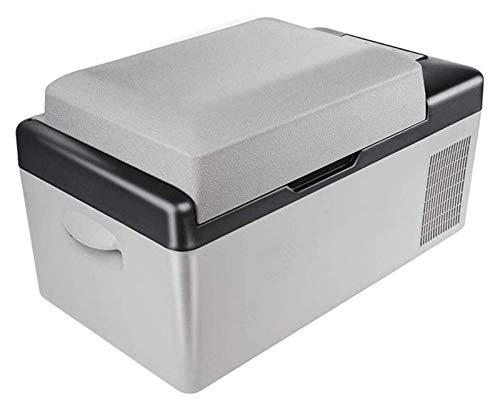 SHUHANG 20L multifunción Frigorífico Vehículos Protable Coche Refrigerador Congelador Enfriador Gris Gray Energía 12-24V DC 110-240V (Size : 22.4x12.6x12.6in)