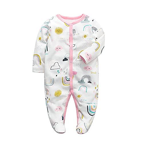 Bambino Pagliaccetto Pigiama Tutine Cotone Ragazzi Ragazze Tutina Footed Manica Lunga Tuta Onesies Tuta Vestiti per bambini Outfits 0-3 mesi