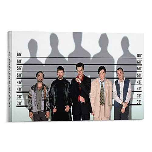 Póster de The Usual Suspects 3 Thriller Movie Poster Misterio Arte Pintura Lienzo Obras de Regalo Cuadro Cuadro Cuadro Decoración de Pared Marco Decorativo Sin Marco 40x60cm