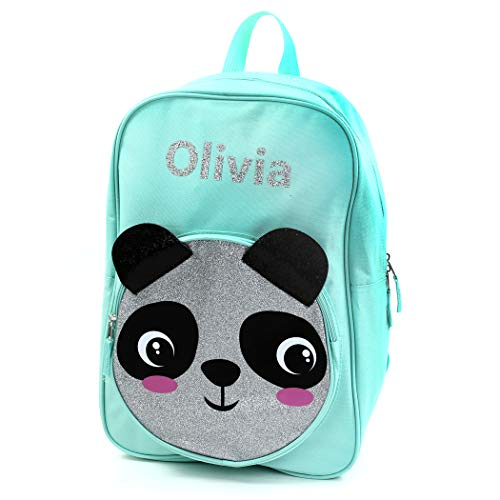 Personalized Girls' 17 Inch Backpack With Custom Name - Panda