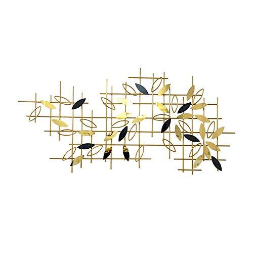 Syue - Decoración de pared de metal, hojas de acero inoxidable en cruz abstracta