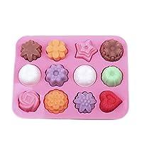 RICISUNG クリスマスチョコレートケーキシリコーンフォンダン金型 クリスマスキャンディ金型トレイ 金型ベーキング Style 02