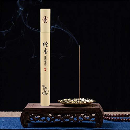 Varitas de incienso de naturaleza, incienso de línea segura, varillas de incienso de aroma, salud conveniente para el spa del templo para el baño del hogar(sandalwood)
