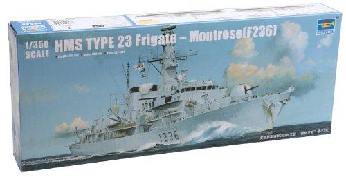 Trumpeter F-236 Type 23 HMS Montrose Frigate Ship Model Kit, Scale 1/350 -  Stevens International, TRU04545