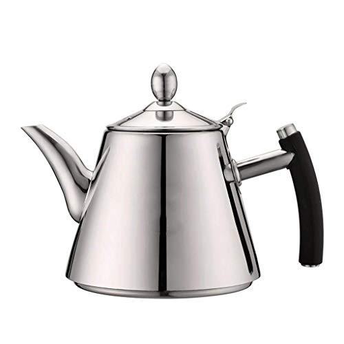 YFGQBCP Calentador de Agua 1.2L Hervidor pequeño Electromagnético de Fondo Plano Juego de té Mesa de té Hervidor Grueso 304 Tetera de Acero Inoxidable Kungfu Té Burbuja de té