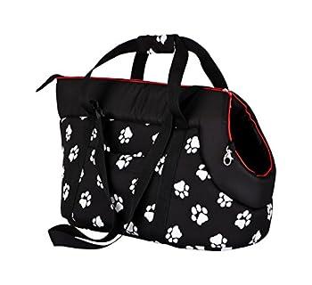 Hobbydog TORCWL3 Sac de Transport pour Chien Motif Pattes Noir 22 x 20 x 36 cm
