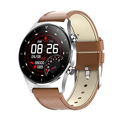 ZGLXZ Android Smart Watch, Uomo Sport Smartwatch GPS Supporto Pedometro Pedometro Schermo Rotondo Bluetooth Orologio da Polso Donne per iOS,E