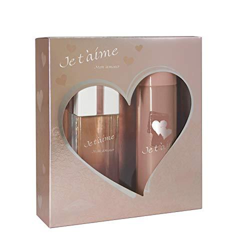 EVAFLORPARIS Je T'Aime Mon Amour Coffret Cadeau pour Femme Eau de Parfum 100 ml + Déodorant 150 ml 1 Unité 3509162005900 Blanc