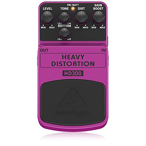 Behringer HD300, Pedal de distorsión para guitarra, HEAVY DISTORTION HD300, Guitar Pedal