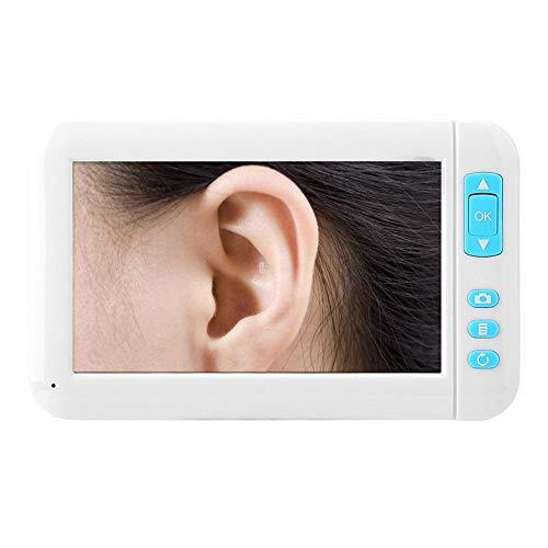 USB LED-endoscoop voor oorreiniging, 4,3-inch TFT-scherm, visuele endoscoop voor het verwijderen van oorsmeer, endoscoopcamera voor gezondheidsonderzoek voor oren, neus en mond (5,5 mm)