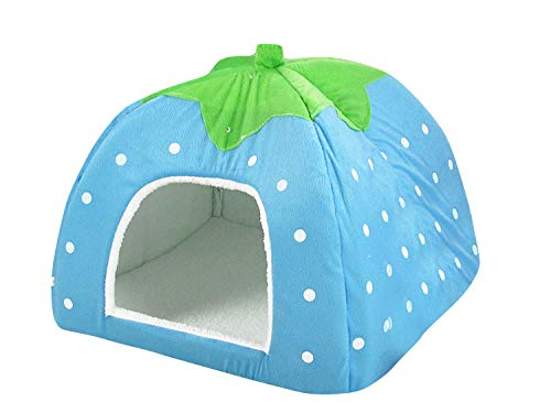thematys Colchoneta Material de Felpa Cama de Almohada Lavable y Resistente a los arañazos para Perros y Gatos (XXL, Azul)