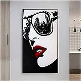 Póster artístico Big City Nights Gafas de sol Carteles artísticos de pared e impresiones Imagen decorativa nórdica para la decoración del hogar de la sala de estar 50x100cm sin marco