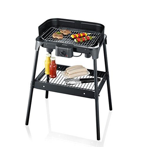 SEVERIN PG 2792 Barbecue-Grill (2.500 W, Standgrill, Grillfläche 41 x 26 cm) schwarz