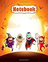 Halloween Notebook for Kids & Teens: Halloween Notebook Journal Funny Scary | With Glossy Cover| Paper, Wide-Ruled 110 Pag...