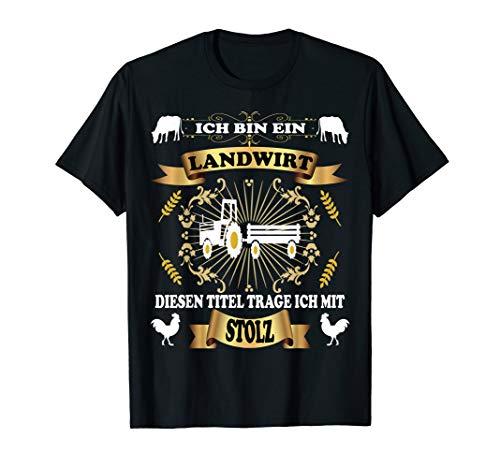 Bauer mit Stolz | Trecker mit Anhänger T-Shirt