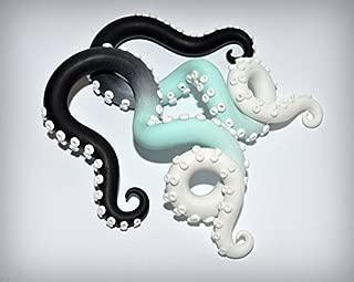 Tentacle Earrings Ear Piercings Ombre Ear Plugs or Fake Plugs, Octopus Gauges, Tentacle Gauges, Color Fade Plugs