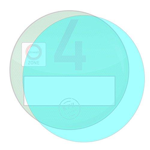 Finest Folia Ablösbare Trägerfolie für Feinstaubplakette Umweltplakette Haftfolie Vignette ((K003) 100mm)