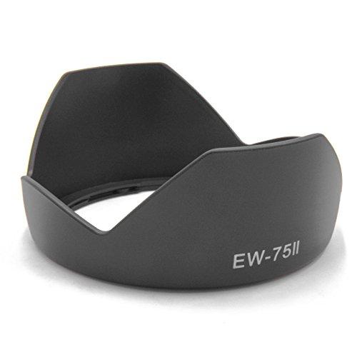 vhbw Parasol para Objetivo Compatible con Canon EF 20-35mm F2.8 L, EF 20mm F2.8 USM por EW-75II, EW-75 II, EW-75 2.