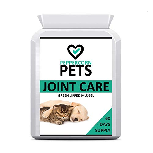 Pets Joint Care Supplement for Dogs and Cats, to Support Joints with Green lipped Mussel, 60 Capsules, 2 Months Supply.Peppercorn Health
