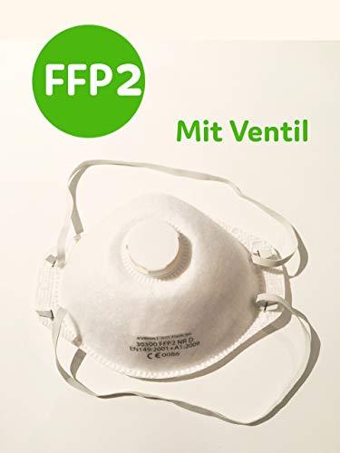 1x Atemschutzmaske FFP2 N95, Mundschutz mit Ventil, Maske wirksame Prophylaxe