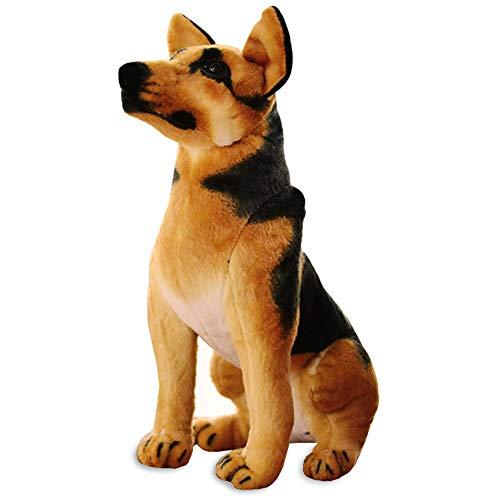 ERDAO Realistic Stuffed Animal Dogs,German Shepherd Dog Plush Toys (11.8 inch)
