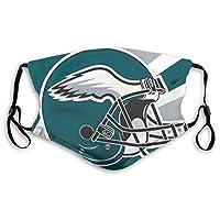 Helmet Reusable Washable Dust Filter and Reusable Mouth Warm Windproof Cotton Face (Men/Women, Philadelphia Eagles)