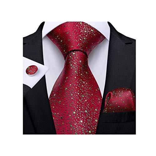 WYBFZTT-188 Regalo Hombre Lazo de la Novedad Diseño de Seda Tie de la Boda para los Hombres Handky Gemelos Set Set Fiesta Moda del Negocio (Color : C)