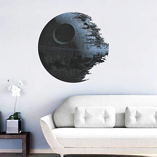 GUDOJK Sticker Mural Autocollants Peints de PVC Autocollants de la Mort Star Star Wars Home Decorations Wall Decor 45 * 45CM Stranger ThingsSalon Chambre décoration