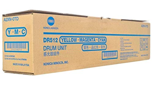 Konica Minolta DR-512 75K Page Yield Color Drum Unit for Bizhub C224 C284 C364 C454 C554 A2XN0TD by Konica-Minolta