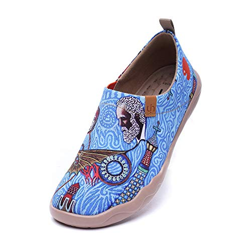 UIN Scarpe Ginnastica Scarpe Espadrillas Uomo Casual Slip on Mocassini Sneakers Basse Colorate in Tela Dipinta a Mano Oh My Gaudí! 42