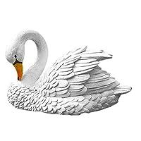 ZT-TTHG 装飾品 樹脂スワンは、池の彫刻現実的なアートの装飾、屋外の庭フローティングミニチュアアニマルウォータービーチ庭の彫像フィギュア