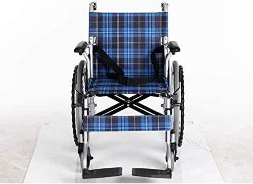 Folding Lightweight Wheelchair Aluminum Alloy Home Wheelchair-Light Folding Brake Trolley Trolley for The Disabled Walker Walker for The Elderly Excellent