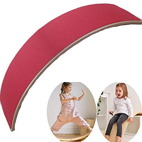 TISESIT INDOOR Balance Board Holz Wackelbretter Workout Yoga-Trainingsgeräte Balance-Spielzeug Für Kinder rutschfeste Taillenmuskeln Balance Pad,Rot