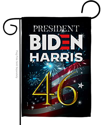 Biden Harris Flag President 46 Garden Flag Patriotic Vote Democrat Republican Tea Party United State American Election House Decoration Banner Small Yard Gift Double-Sided, Made in USA