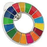SDGs バッジ ピンバッチ バッヂ「正規品/国連公式最新仕様」ピンバッジの留め具 銀色 エスディージーズ (1個)
