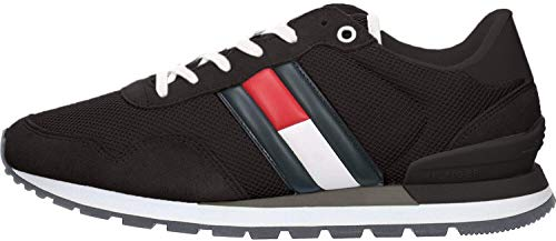 Tommy Hilfiger Causal Tommy Jeans Sneaker, Zapatillas para Hombre, Negro (Black Bds), 44 EU