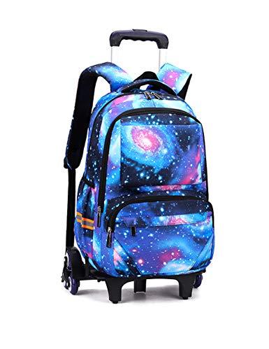 Funda de protección de regalo escolar, mochila con ruedas, maletero, maleta, cabina, viaje, galexy, mochila, niño, escuela, cielo y estrella., Ciel Estrella Azul (Azul) - RYC-2024-XK-6