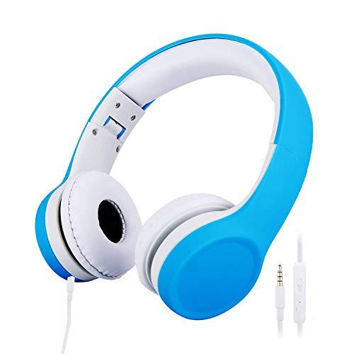 misognare 子供用ボリューム 有線 ボリュームリミテッド キッズヘッドフォン (ブルー)