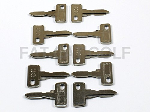 Club CAR Key for All Stock Club CAR Golf CARTS (Set of 10)