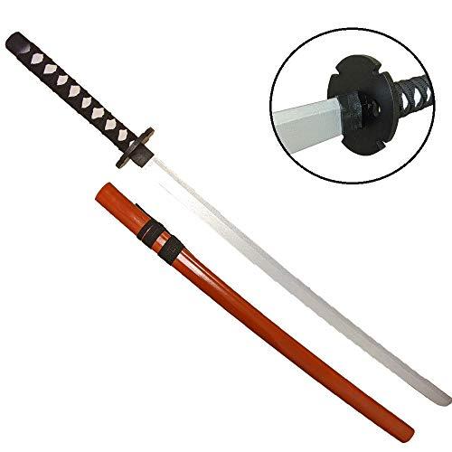 模造刀 刀 逆刃刀 模擬刀 BATSU・TOU 100cm 木製 コレクション コスプレ (オレンジ)