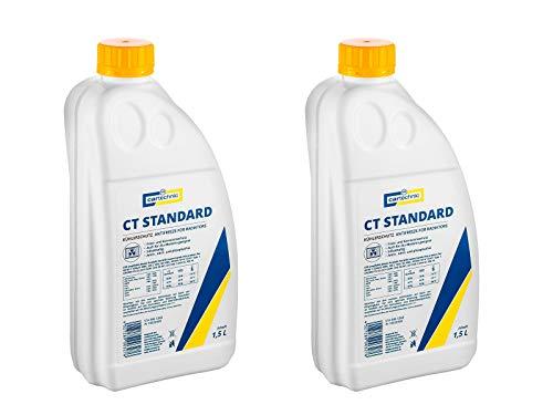2x Cartechnic 1,5 Liter Kühlerfrostschutz Anti-Freeze Gelb Yellow CT Standard Kühlflüssigkeit