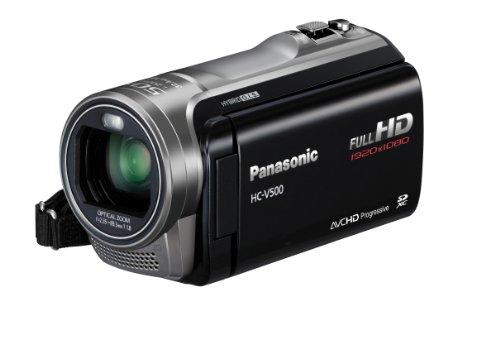 Panasonic HC-V500EG-K Videocamera Palmare, Full HD, Nero