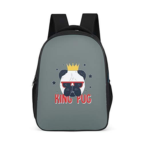 Lind8 Zwarte Hond Rugzak Vrije tijd Grote School Tas - Student Classroom Boek Tassen Bergbeklimmen Gebruik voor Meisjes & Jongens onesize grey3