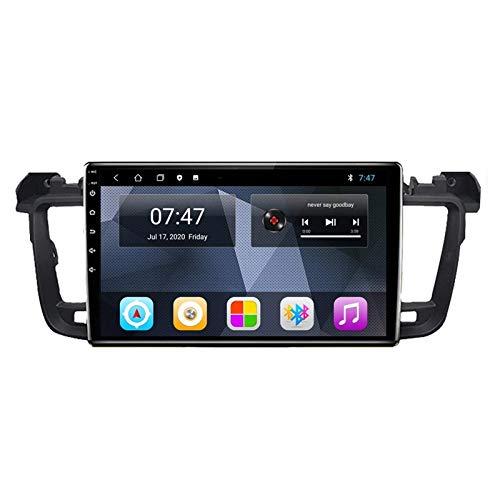Car Stereo Android 10.0 Radio para Peugeot 508 2011-2018 Navegación GPS Unidad Principal de 9 Pulgadas Pantalla táctil HD Reproductor Multimedia MP5 Video con WiFi DSP SWC Mirrorlink