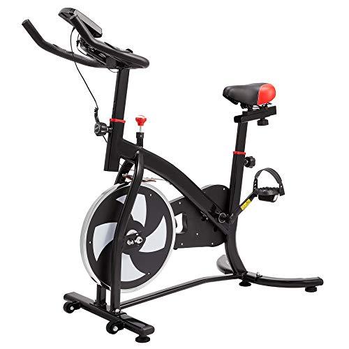 Z ZELUS Cyclette Fitness con Sedile e Manubrio Regolabili Bici da Spinning Professionale con Volano da 6KG Bicicletta per Allenamento a Casa con Supporto capacità 100KG