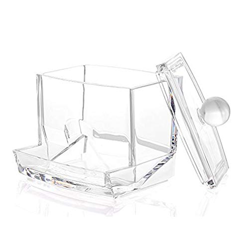 Cotton Pad Holder Acrylic Container Crystal Cosmetic Storage Box Plastic Makeup Case for Bathroom