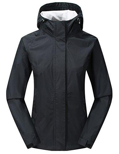 Diamond Candy Women Hooded Waterproof Rain Jacket Lightweight Mountain Jacket Packable Outdoor Casual Sportswear