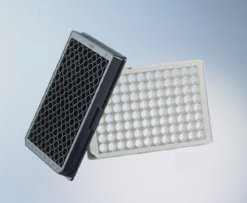 Greiner Bio-One 655906 Black Polystyrene Non-Binding Microplate, Flat Bottom, Chimney Style, 96 Well (Pack of 40)