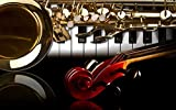 HQHff Guitarra de saxofn,Puzzles Adultos 1000 Piezas 75x50cm,3D Puzzles de Madera Adultos Regalo de Juguete Educativo para nios
