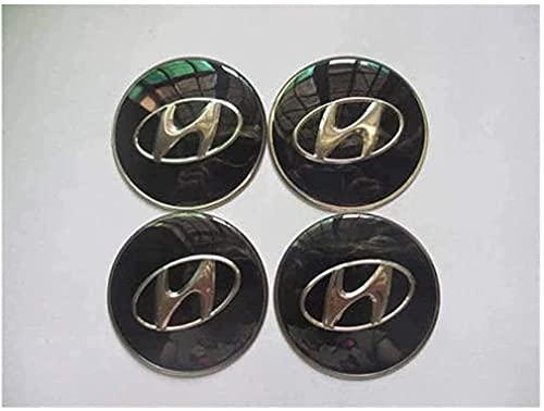 El Centro de Rueda de Coche Cubierta de la Etiqueta engomada Casquillos de Eje tapacubos Emblema de la Insignia Covers Adhesivos para Hyundai Elantra Sonata Fe Tucson I30,65mm